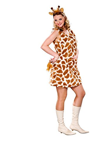 Karneval Kostüm Giraffe (Kleid, Kopfbügel, Schwanz) (36/38)