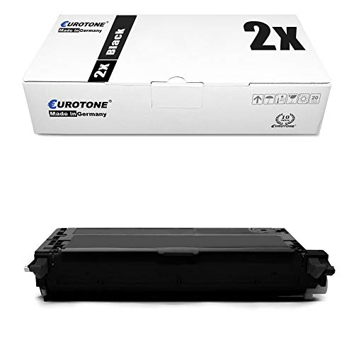 2x Eurotone Toner for Dell 3130 wie 593-10289 59310289 Black Cartridges Cartridges