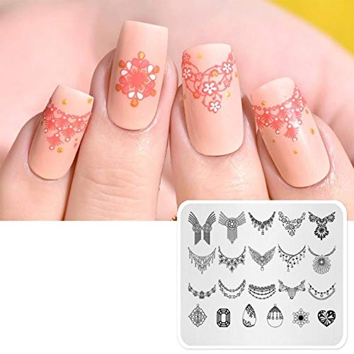Nail Art Stamp Template Fashion Pattern Nail Stamping Plate Decorations Diy Template Manucure Plate Stencil Tools