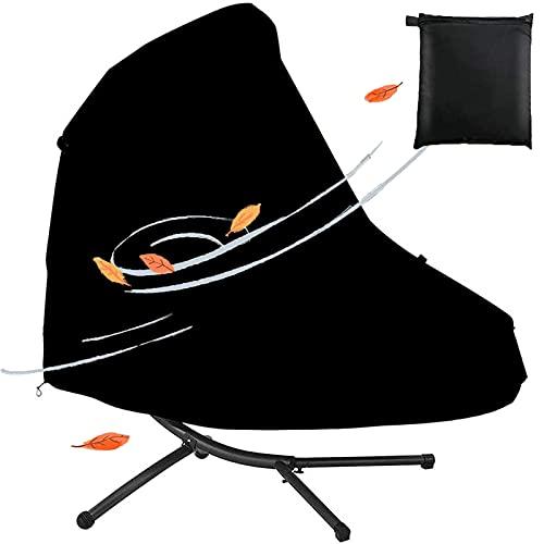 Chaise Longue Colgante para Patio y Funda de Soporte Impermeable al Aire Libre Hamaca Curvada Tumbona Fundas para sillas de Columpio con Orificios de ventilación