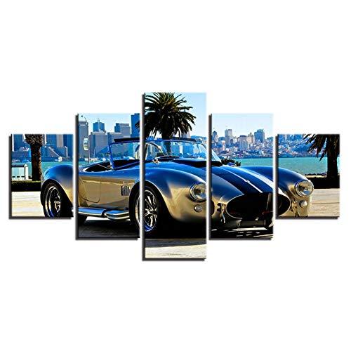 Modulaire canvasdruk schilderkunst wooncultuur 5 stuks Deluxe sportwagen afbeeldingen mode bed achtergrond muurkunst Roadster Poster (geen frame) 10x15 10x20 10x25cm