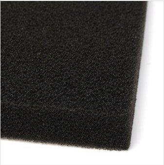 EsportsMJJ 50X50X2Cm Black Aquarium biologisch katoen filter schuim vistank spons kussen, 1, zwart, 1
