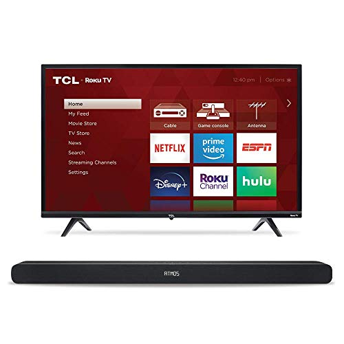 """TCL 32"""" TV & Alto 8i Sound Bar"""