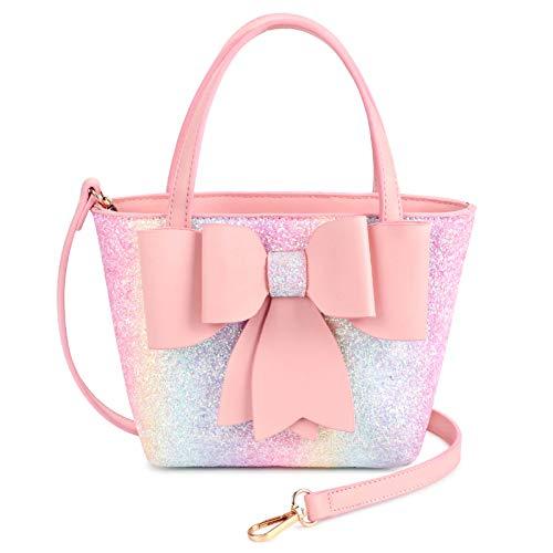 Mibasies Kinder-Geldbörse für kleine Mädchen und Kleinkinder, Handtasche mit Schleife