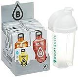 Bolero Kennenlernpaket mit allen 58 Sorten + Foodtastic Shaker 500ml I zuckerfreies Getränkepulver mit Stevia...