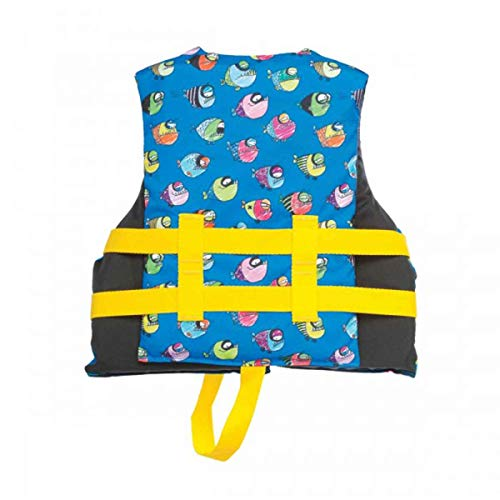Airhead Crayon Fish Kids 30-50 Lb Open-Sided Childrens Life Jacket (10 Pack)