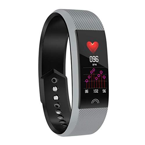 Smartwatch, fitnesshorloge, waterdicht IP68, bluetooth, sport, smartwatch met stappenteller, touch, caloriealarm, alarm voor kinderen, dames en heren, om te hardlopen, Grijs
