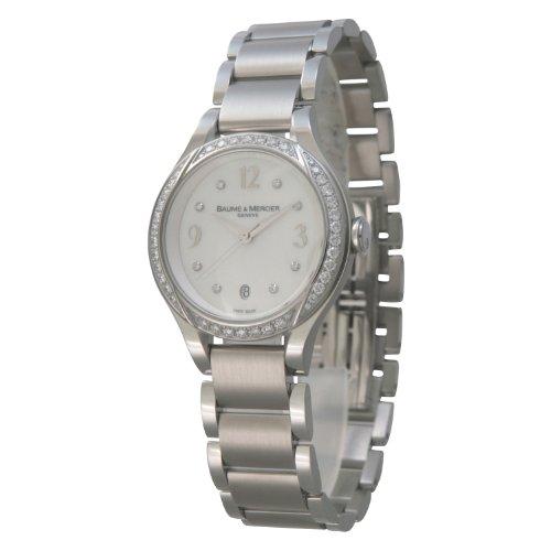 [ボーム&メルシエ] 腕時計 Ilea SS クオーツ ホワイトシェル ベゼルダイヤ MOA08772 並行輸入品 シルバー [並行輸入品]