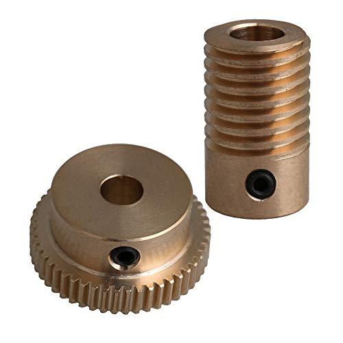 0,5 Modul Messingschneckenwellen-Satz 6 mm Lochdurchmesser + 50 T Messingschneckenrad-Satz 1:50 Untersetzungsverhältnis