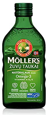 Moller's Fish Oil OMEGA-3 -NATURAL- Baby Children Adults by Mollers