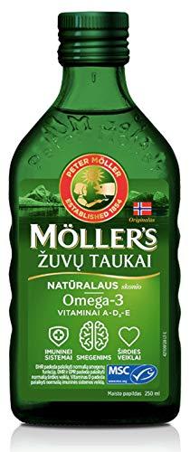 MÖLLERS Omega-3 leverolja, flytande, natur, utan arom, 250 ml