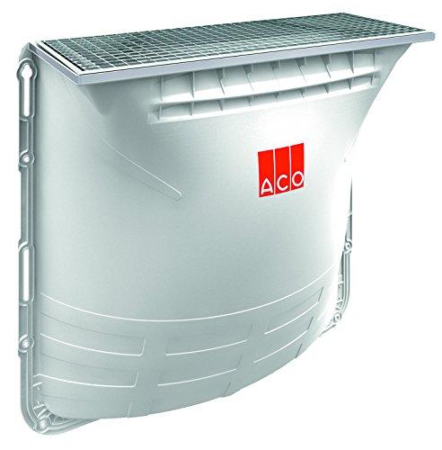 ACO Therm Lichtschacht Komplettset 100x60x40 cm begehbar 1x Lichtschacht-Körper mit Maschenrost 30/30 und Montageset