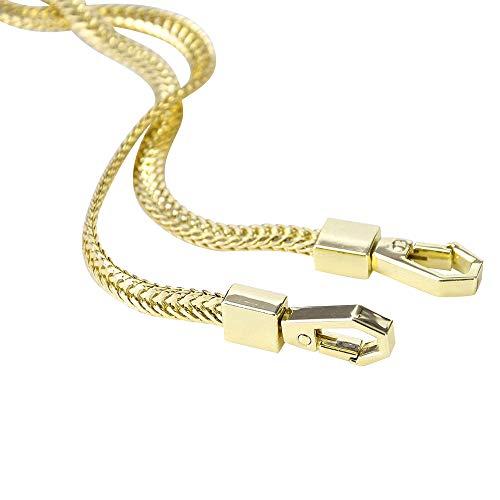 Flach Geldbörsen Kette Taschenkette Schulterriemen Schultergurt Handtaschen Riemen 120 cm (Gold)