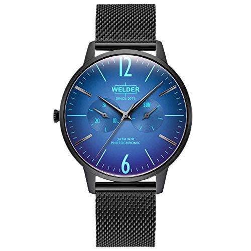 Welder Slim Herren-Armbanduhr 42mm Armband Edelstahl + Gehäuse Quarz WWRS401