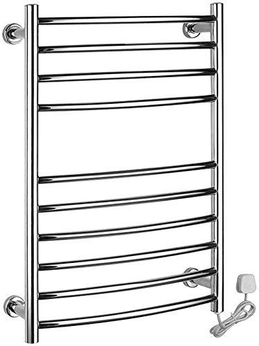 WGFGXQ Toallero eléctrico, radiador de riel de Toalla calentado Calentador de Toallas de Acero Inoxidable Calentador de Toallas eléctrico para el baño del hogar Hotel de Lujo