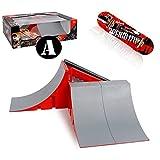 MOMSIV Mini Finger Skateboard,DIY Montagerampe Zubehör Set,Finger Skateboards Skate Park Rampe Teile für Tech Practice Deck Kinder Geschenkset Fingerboard Spielzeug Sport Spiel für Kinder Kinder(A)