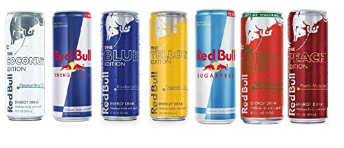 Red Bull Editions Variety Pack, 12 ounce (Pack of 7)
