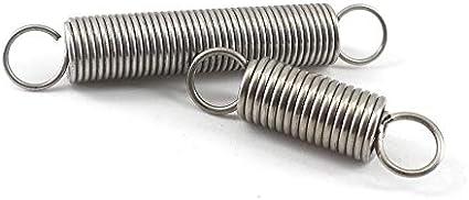 F-MINGNIAN-SPRING 10PCS Acero Inoxidable Resorte de compresi/ón de 0,8 mm de di/ámetro del Alambre * 4 mm Di/ámetro de Salida * 5-50 mm Longitud Peque/ño Muelle en Espiral tama/ño : 0.8x4x35mm