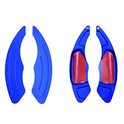 NICOLIE Cubierta De Palanca De Cambios De Extensión De Paleta De Volante De Coche Compatible con Kia K3 Ceed CD - Azul