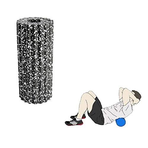 zhppac Roller Foam Rulo Masaje Muscular Tiempo Rodillo de Espuma Masajeador de Espalda de Gran Rodillo de Espuma Rollo de Espuma White-Black,33cm