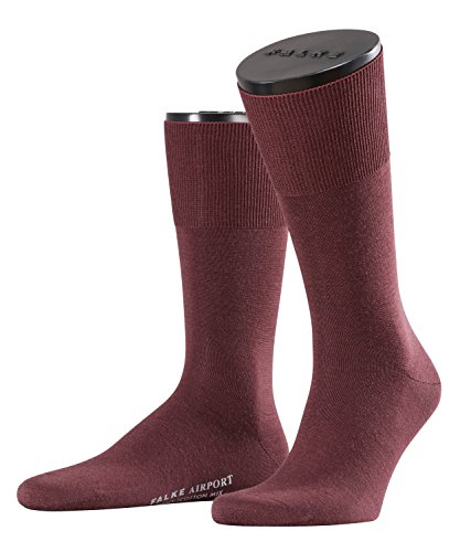 FALKE Herren Socken Airport - Merinowoll-/Baumwollmischung, 1 Paar, Rot (mahogany 8344), 45-46