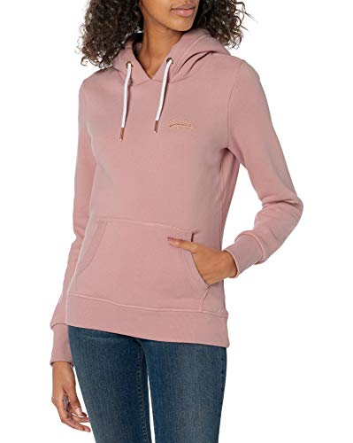 Superdry Damen ORANGE Label Elite Hoodie Pullover, Kupfer-Rouge, X-Small