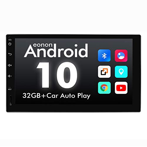 2021 Double Din Car Stereo, Android Head Unit Built-in DSP with IPS Screen Eonon 7 Inch Android 10 Car Stereo Support Apple Carplay/WiFi/Fast Boot/Backup Camera/OBDII(No CD/DVD) - GA2180A