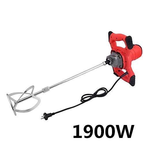 sweepid Agitador 1800W 220V Mortero Cemento batidora (Putz Colores Varilla mezclador agitador dispositivo para mezclar hormigón Agitador