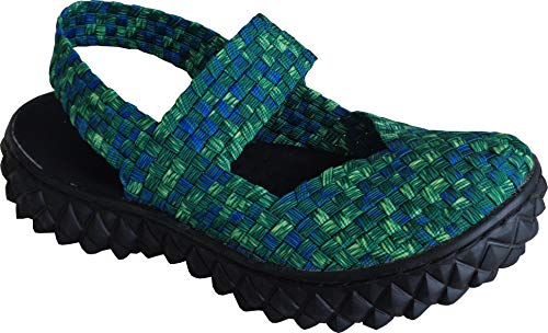 Rock Spring Over Sandal - MIT Memory Foam - Grun/Blue/Smoke 42