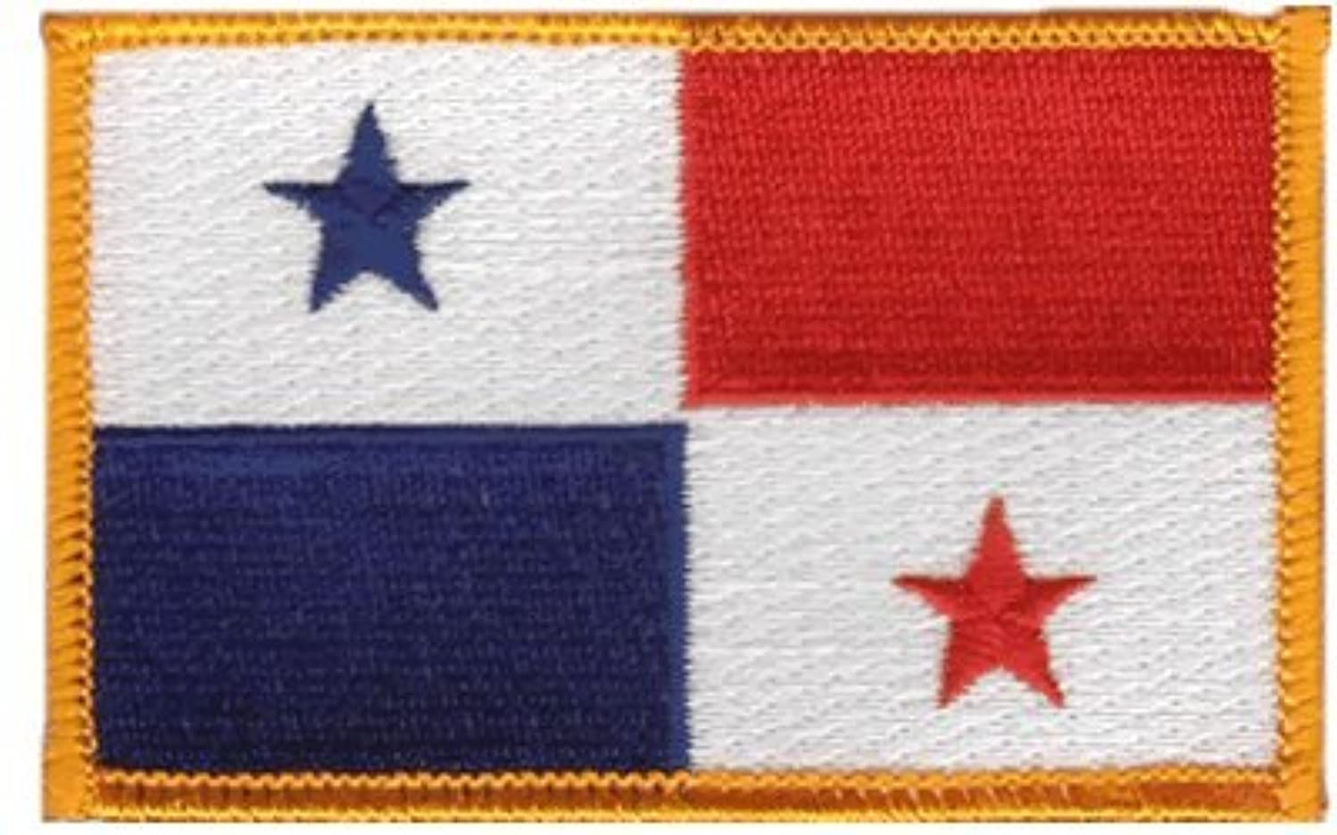 Panama iron-on embroidered patch