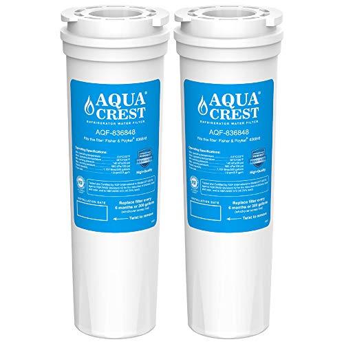 AQUA CREST 836848 Kühlschrank Wasserfilter, Kompatibel mit Fisher & Paykel 836848, 836860, E404BRXFDU, E522BRXFDU, PS2067635, Maytag/Amana Clean 'n Clear, RO185011, RO185014, 67003662, WF60, C2 (2)