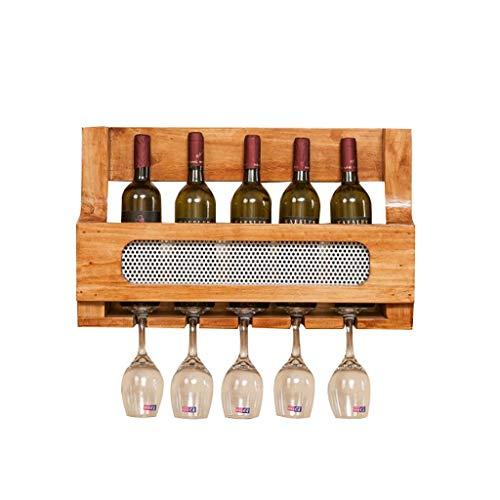 PYROJEWEL Estante del Vino, Vino de Pared Estante Estante de Almacenamiento del Vino de Madera del Soporte de exhibición Estante