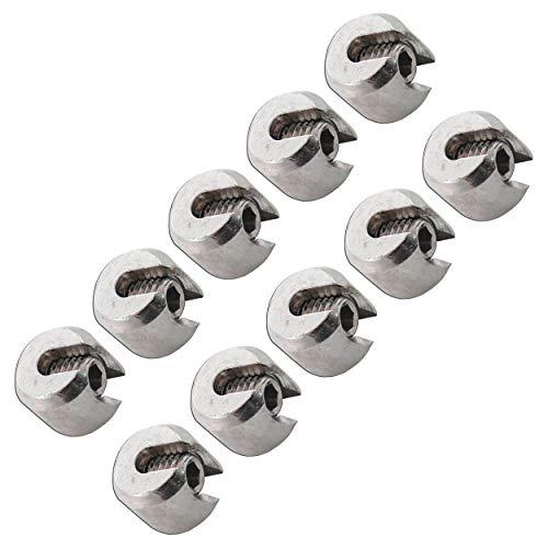 FASTON® Klemmstopper 5 mm Edelstahl A4 V4A (10 Stück) Klemmringe Seilstopper Drahtseil Klemme Drahtseilstopper Seilklemmstopper