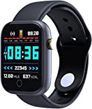 Smart Watch Fitness Tracker 1.3 in HD Screen with Heart Rate Monitor Blood Oxygen Meter Sleep Step Tracking Customize Dial IP67 Waterproof Smartwatch Compatible with iOS Android Apple (Black)