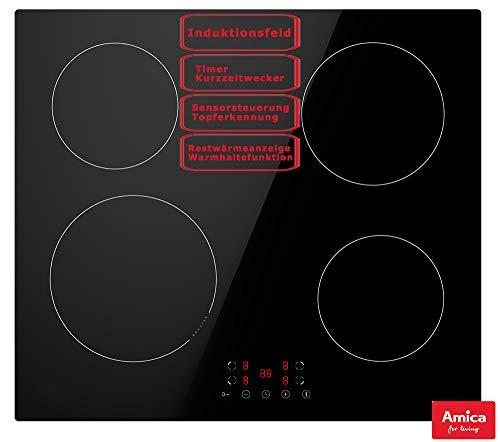 Amica Induktionskochfeld 60 cm rahmenlos Direct Touch Topferkennung Timer KMI 754 000 C