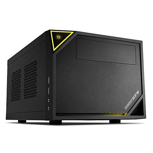 Sharkoon Shark Zone C10 PC-Gehäuse (Mini-ITX, 1x 5,25 extern, 1x 2,5 Zoll/3,5 Zoll intern, 2x USB 3.0)