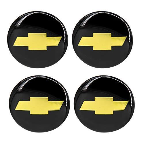 idingxin 4 x 2.5 65 mm Auto Rueda Centro Hub Cap Emblema calcomanía para Chevrolet