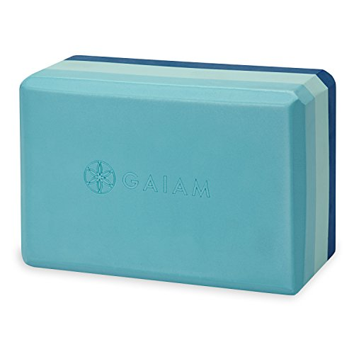 Gaiam Yoga Block - Supportive Latex-Free EVA Foam Soft Non-Slip Surface for Yoga, Pilates, Meditation, Skyline