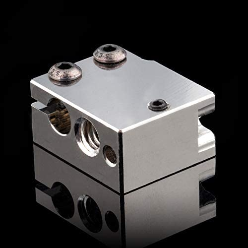 High Temperature Plated Copper Heater Block for Volcano Hotend PT100 Cartridge Sensor BMG Extruder product image