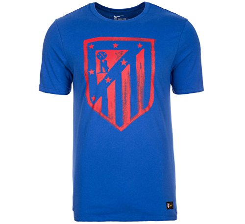 NIKE Atlético de Madrid Crest tee Camiseta de Manga Corta, Hombre, Azul (Game Royal/Game Royal), S