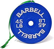 Barbell 45lb Christmas Ornament/Christmas Gift/Stocking Stuffer/Crossfit Weightlifting Powerlifting Strongman