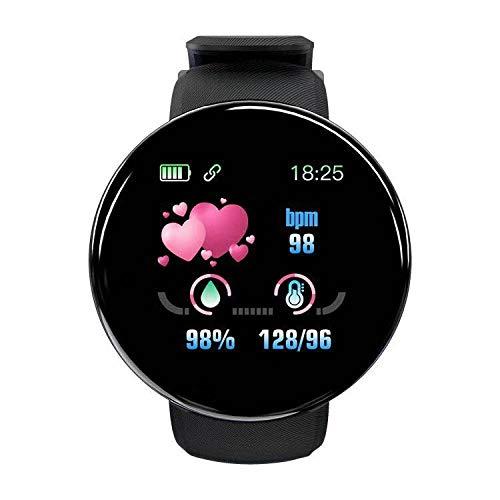 Yumanluo Reloj Inteligente Mujer Hombre,Pulsera Inteligente Impermeable para Hombres y Mujeres, monitoreo de Salud Deportiva-Negro,Pulsera de Actividad Inteligente Reloj Deportivo