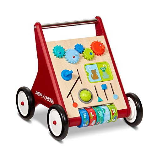Radio Flyer Classic Push & Play Walker, Toddler Walker with Activity Play, Ages 1-4