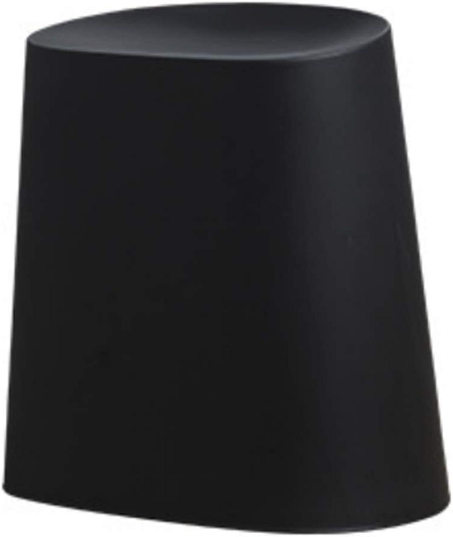 JIANFEI Footstool Trash Can Big Space Storage Load Bearing 80kg,4 colors (color   Black, Size   43x33x43cm)