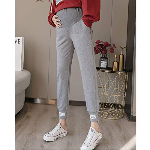 Great Deal! CAOMING Fashion Casual Sports Trousers Pregnant Women Pants Autumn Trendy Mom Autumn Clo...