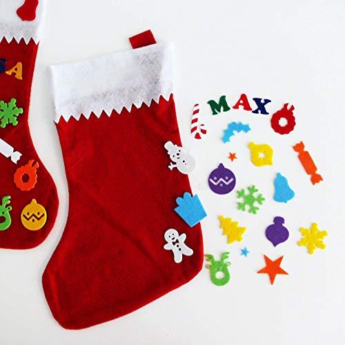 Bastelset Weihnachtsstrumpf - großer Weihnachtsstrumpf mit Namen - Bastelset für Kinder