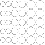OBSEDE Hollow Stainless Steel Charms Pendants Circle Shape Frame Jewelry Findings Bezels for DIY Crafts...