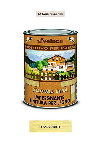 Veleca XILOVAL CERA Trasparente -lt. 1- IMPREGNANTE PROTETTIVO PER ESTERNO finitura cerata