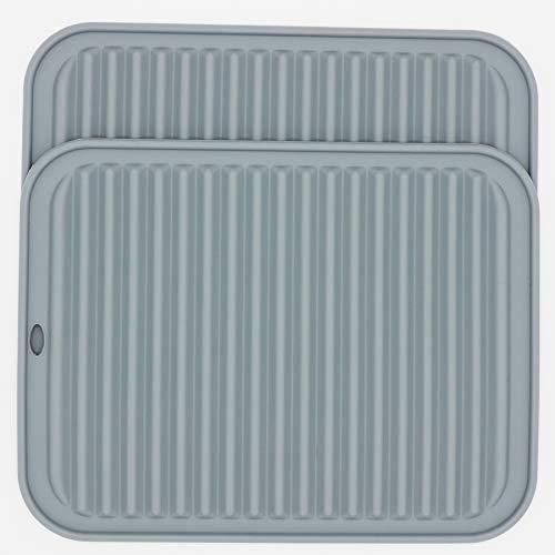 Smithcraft Grands dessous de plat en silicone pour table ou casserole, multi-usages et plusieurs couleurs au choix (gris clair/rectangulaire)