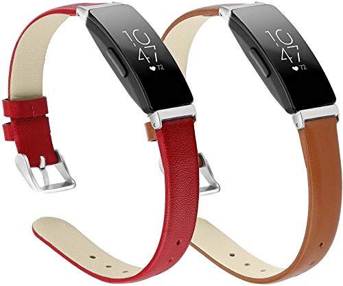 Gransho Quick Release - Compatible con Fitbit Inspire HR/Inspire Correas de Reloj Cuero (Pattern 2+Pattern 5)